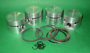 PISTON SET MGB 5 BEARING 060 HIGH COMPRESSION CCLIP + PRESS FIT - INCLUDES DELIVERY