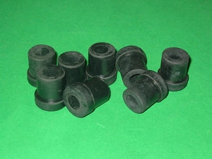 SET OF 8 - BUSH SHACKLE REAR OF REAR SPRING MGA MGB MGB - INCLUDES DELIVERY