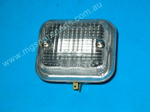 PAIR - REVERSE LAMP MGB SPRITE MIDGET LUCAS ON LENS - INCLUDES DELIVERY