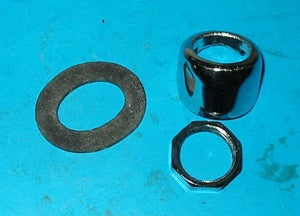 PAIR - WIPER WHEELBOX BEZEL NUT & SEAL KIT MGB GT - INCLUDES DELIVERY