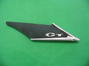 MGB GT FLASH BADGE LEFT HAND REAR PILLAR - INCLUDES DELIVERY