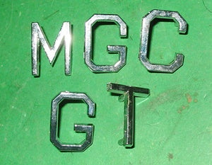 BADGE SET MGC GT LETTERS - INCLUDES DELIVERY