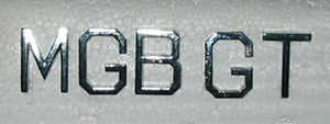 BADGE SET MGB GT LETTERS - INCLUDES DELIVERY