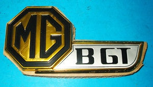 HATCH BADGE GOLD BLACK MGB GT jubilee - INCLUDES DELIVERY