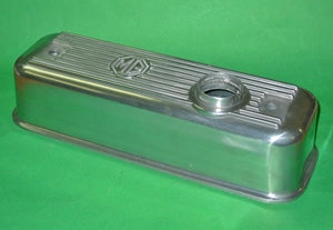 ALLOY ROCKER COVER MGA MGB + GASKET + 2 GROMMETS - INCLUDES DELIVERY