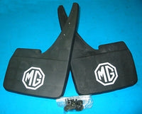 PAIR - MUD FLAPS MG LOGO MGB MIDGET not raised PRINTED - INCLUDES DELIVERY