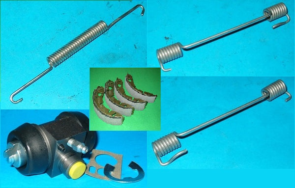 CARSET - WHEEL CYLINDERS + REAR BRAKE SHOES + REAR BRAKE SPRING KIT SPRITE MIDGET MINI - INCLUDES DELIVERY
