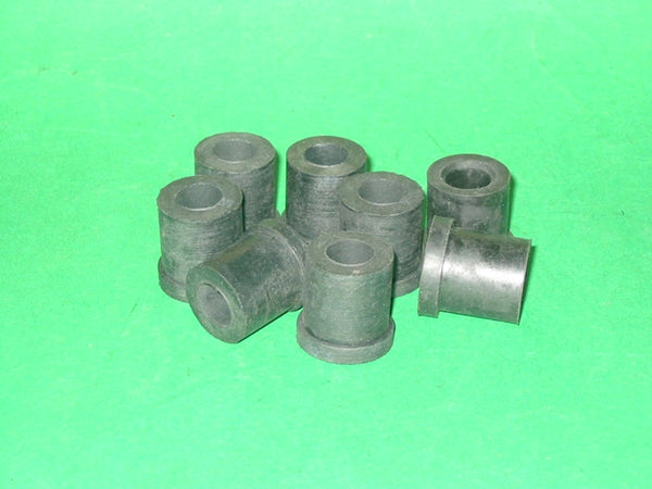 SET OF 8 - SHACKLE BUSH REAR OF REAR SPRING TC TF SPRITE MIDGET MORRIS MINOR/MAJOR - INCLUDES DELIVERY