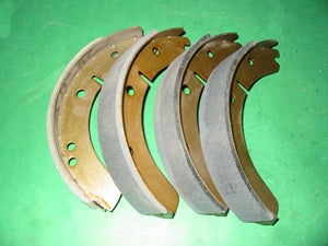 SET - BRAKE SHOES MGA FRONT 1500 + REAR 1600 RR - INCLUDES DELIVERY