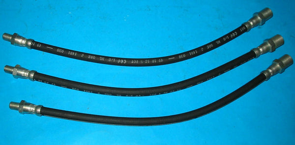 SET OF 3 - BRAKE HOSE MG TD TF FRONT & REAR - INCLUDES DELIVERY