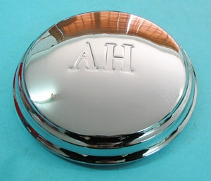 HUBCAP SPRITE 'AH' LETTERS CHROME- INCLUDES DELIVERY
