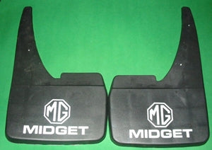 MUD FLAPS MIDGET LOGO not raised - INCLUDES DELIVERY