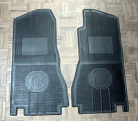 PAIR - MGB2 'MG' LOGO RUBBER FRONT FLOOR MAT - INCLUDES DELIVERY