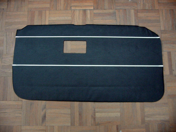 PAIR - DOOR LINER MGB TOURER 1968 > 1969 BLACK WITH WHITE PIPING - INCLUDES DELIVERY