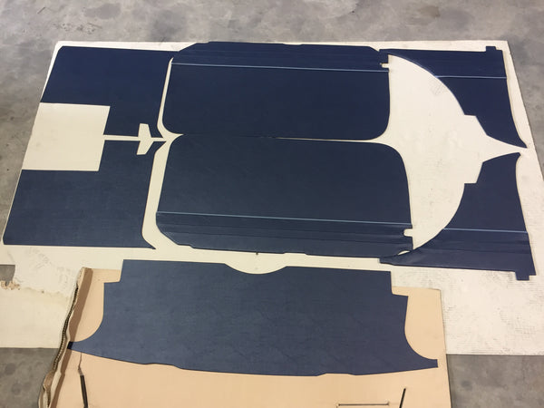 TRIM KIT MGB SOFT TOP 1962 > 1965 BLUE WITH BLUE PIPING - DELIVERY EXTRA