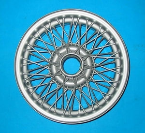 "MGB MG SILVER / PAINTED WIRE WHEEL 14"" x 4.5"" 60 SPOKE - INCLUDES DELIVERY"