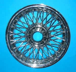 "MG MGB CHROME WIRE WHEEL 14"" X 4.5"" 60 SPOKE - INCLUDES DELIVERY"