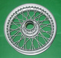 "MGA MG TD TF MG SILVER / PAINTED WIRE WHEEL 15"" x 4"" 48 spoke - INCLUDES DELIVERY"