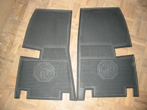 PAIR - MGA 'MG' LOGO RUBBER FLOOR MAT - INCLUDES DELIVERY