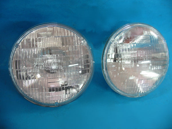 "PAIR - HEADLAMP HALOGEN 7"" SEALED BEAM MGA MGB MGC MINI MGTF - INCLUDES DELIVERY"