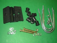 PAIR - REAR SPRING TO SUIT MGB CHROME BAR SOFT TOP WITH FITTING KIT SALISBURY DIFF - DELIVERY EXTRA