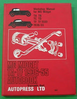 WORKSHOP MANUAL MG MIDGET TA TF 1936-55 AUTOBOOK - INCLUDES DELIVERY