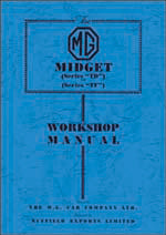 WORKSHOP MANUAL MG MIDGET TD TF AUST ORIGINAL - INCLUDES DELIVERY