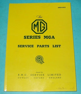 MGA 1500 SERVICE PARTS LIST BOOK - INCLUDES DELIVERY