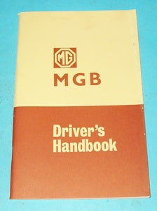 MGB DRIVER'S HANDBOOK - INCLUDES DELIVERY