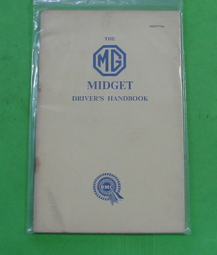 MG MIDGET DRIVER'S HANDBOOK - INCLUDES DELIVERY
