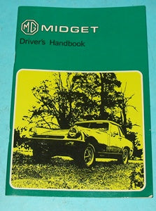 MG MIDGET DRIVERS HANDBOOK R/NOSE - INCLUDES DELIVERY