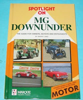 MG DOWNUNDER BOOK - INCLUDES DELIVERY
