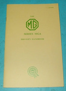 MGA 1500 DRIVER'S HANDBOOK - INCLUDES DELIVERY