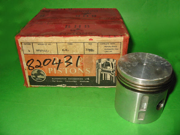 PISTON SET MG TF1500 STD BHB ORIGINAL EQUIPMENT with rings - INCLUDES DELIVERY
