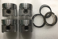 PISTON SET MIDGET NOM 1380CC + RINGS - INCLUDES DELIVERY