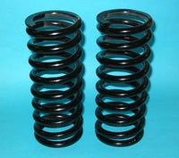 PAIR - COIL SPRING MGB TO SUIT SOFT TOP CHROME BAR - INCLUDES DELIVERY