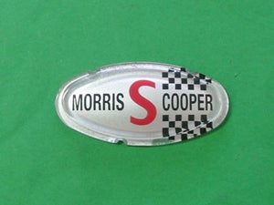 BONNET BADGE MINI 'MORRIS S COOPER' MKII - INCLUDES DELIVERY