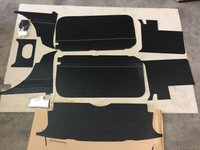 TRIM KIT MGB SOFT TOP 1962 > 1965 BLACK WITH BLUE PIPING - DELIVERY EXTRA