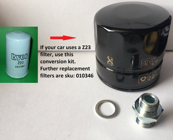 OIL FILTER SPIN ON Z23 CONVERSION KIT - INCLUDES DELIVERY