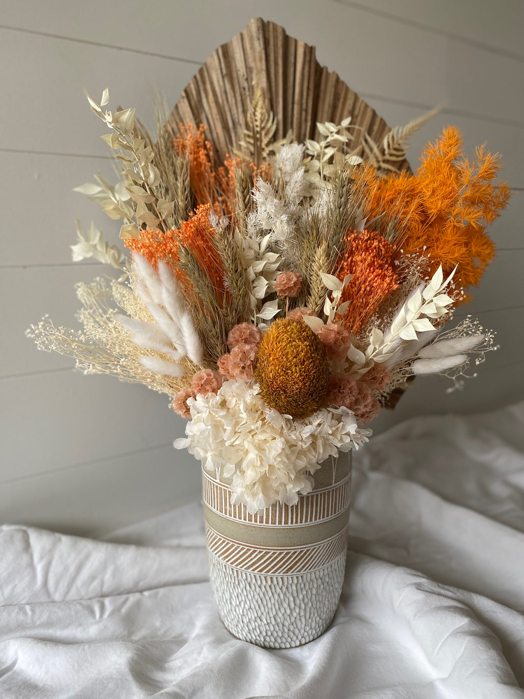 Large Floral Arrangement - Boho Rain Raw Vase