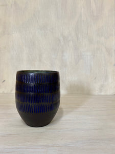 Textured Blue multipurpose cup - seconds