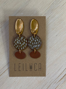 Gold terracotta texture stud drop - Summer Collection