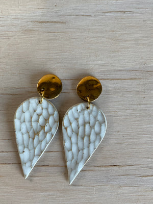 Gold leaf stud drop - Summer Collection