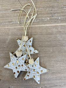 Spotty star with gold decoration