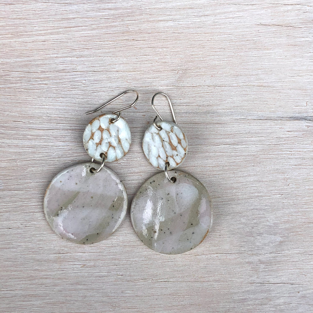 Blush Texture Dangle
