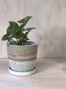 Boho Rain Raw Small Planter
