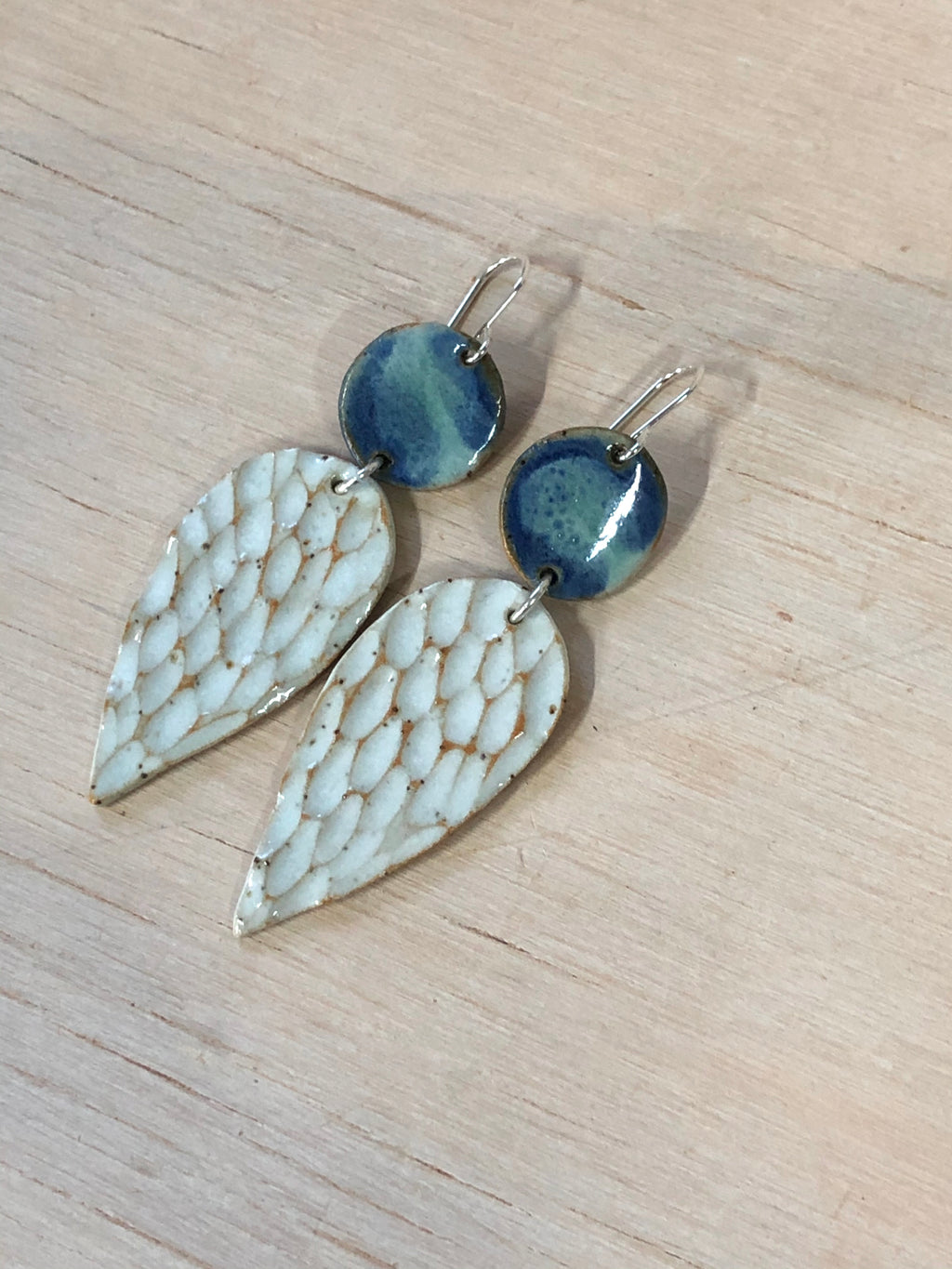 Ocean Texture Leaf Dangle