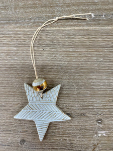 Boho star with gold decoration