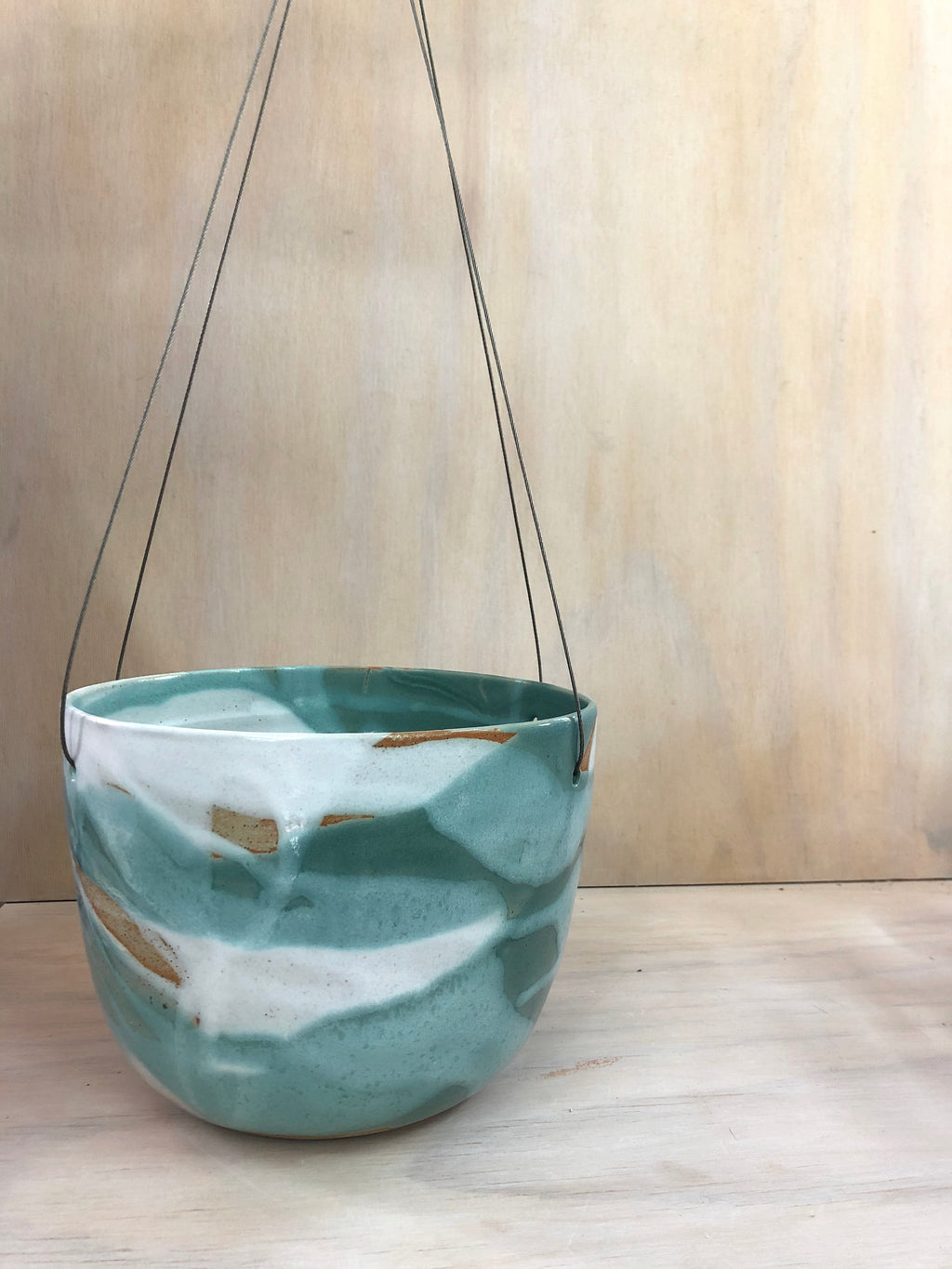Sea Mist Large Hanging Planter Seconds