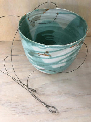 Sea Mist Extra Large Hanging Planter